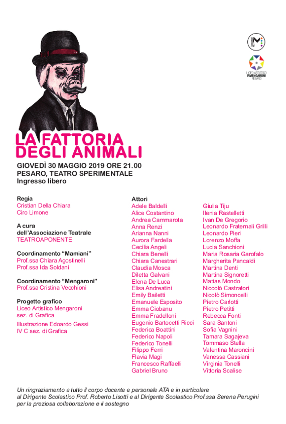Manifesto-locandina dell'evento con referenze